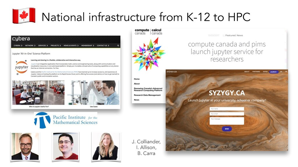 National infrastructure from K-12 to HPC J. Col...