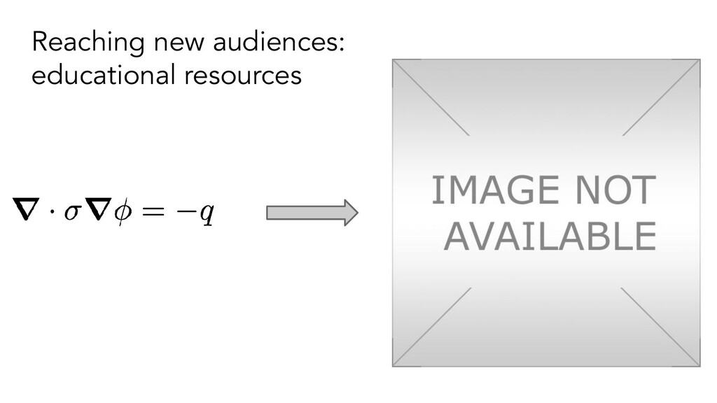 Reaching new audiences: educational resources