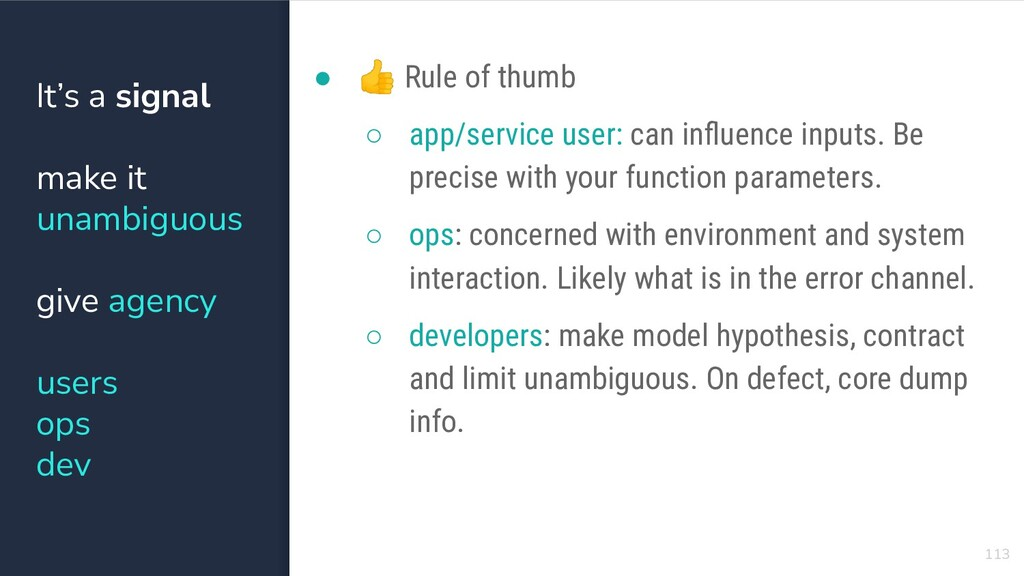 113 ● 👍 Rule of thumb ○ app/service user: can i...