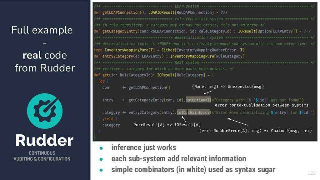 Full example - real code from Rudder 122 ● infe...