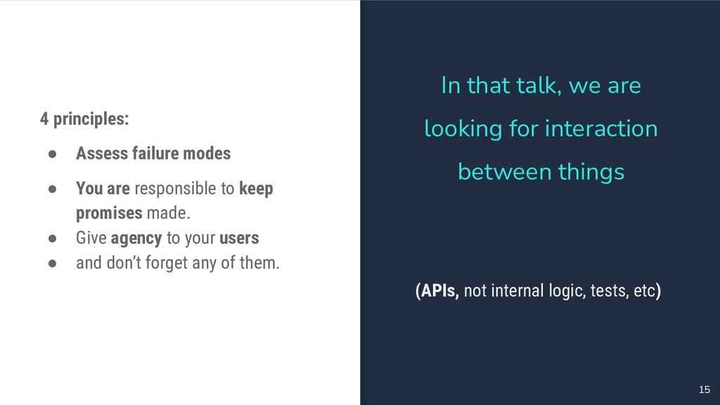 15 4 principles: ● Assess failure modes ● You a...
