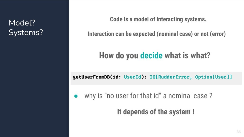 Model? Systems? 36 Code is a model of interacti...