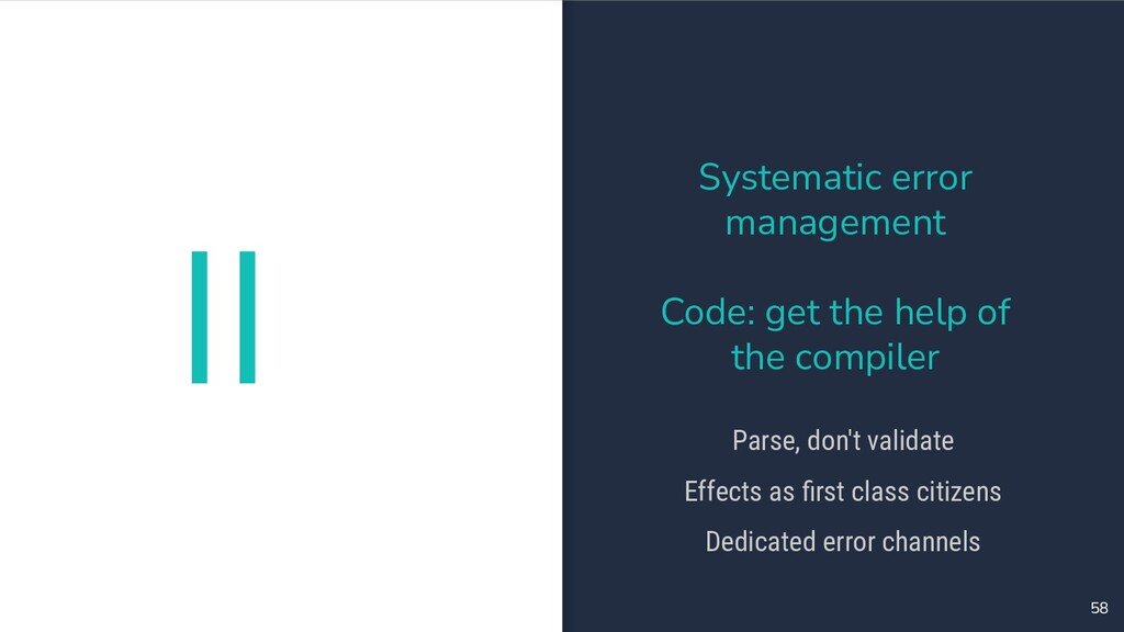 II 58 Systematic error management Code: get the...