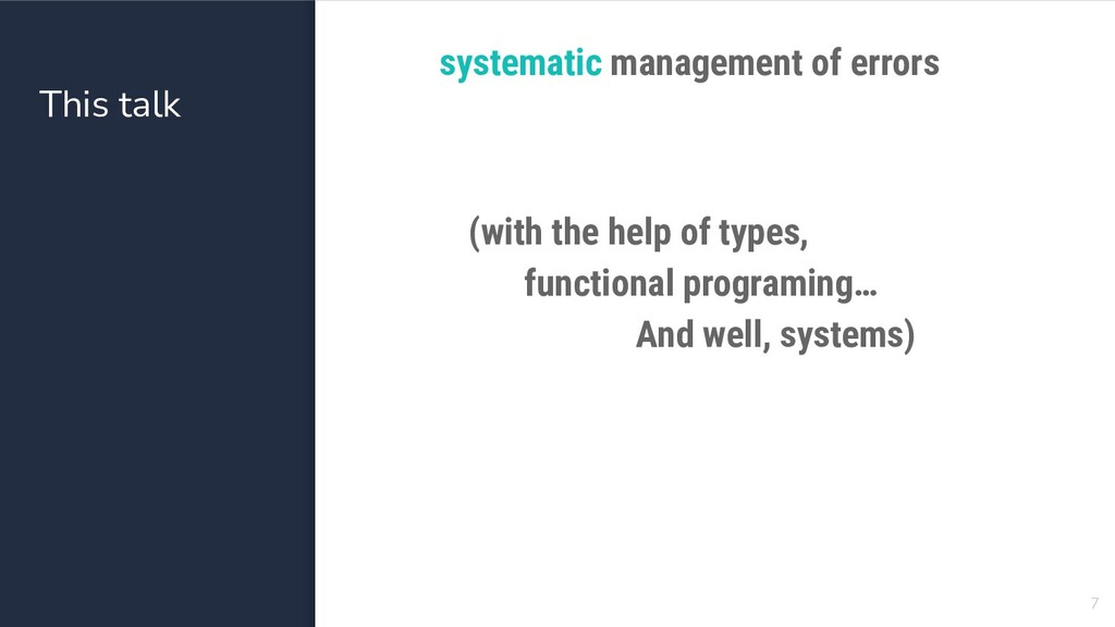 This talk systematic management of errors 7 (wi...
