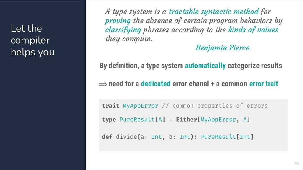 76 trait MyAppError // common properties of err...