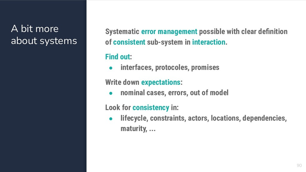 A bit more about systems 90 Systematic error ma...