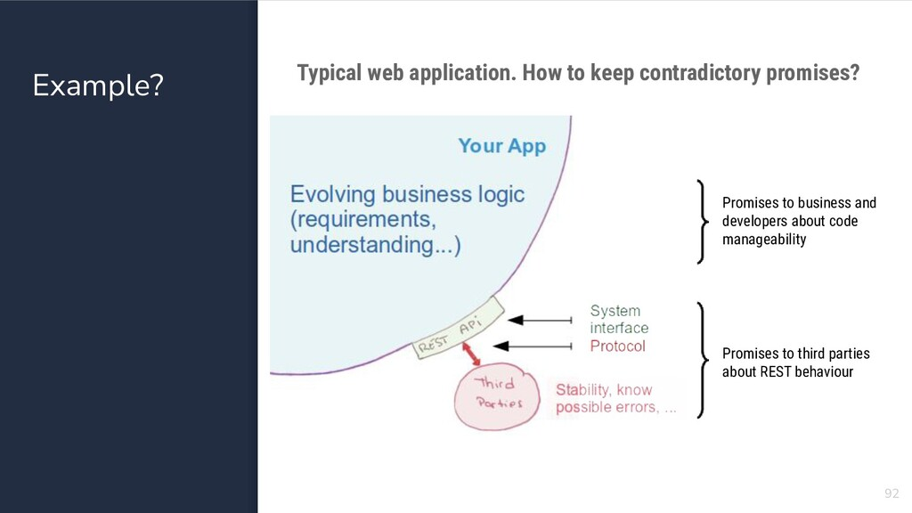 Example? 92 Typical web application. How to kee...