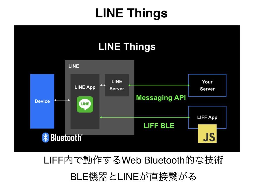 LINE Things LIFFͰಈ࡞͢ΔWeb Bluetoothతͳٕज़ BLEػثͱL...