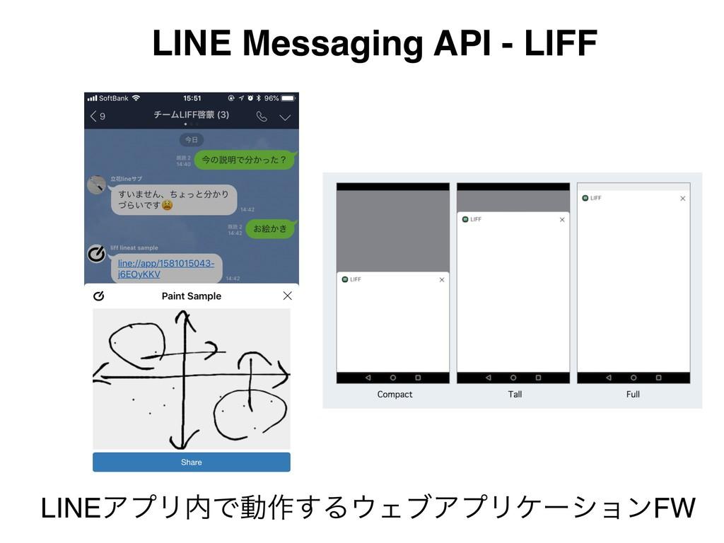 LINE Messaging API - LIFF LINEΞϓϦͰಈ࡞͢ΔΣϒΞϓϦέʔ...