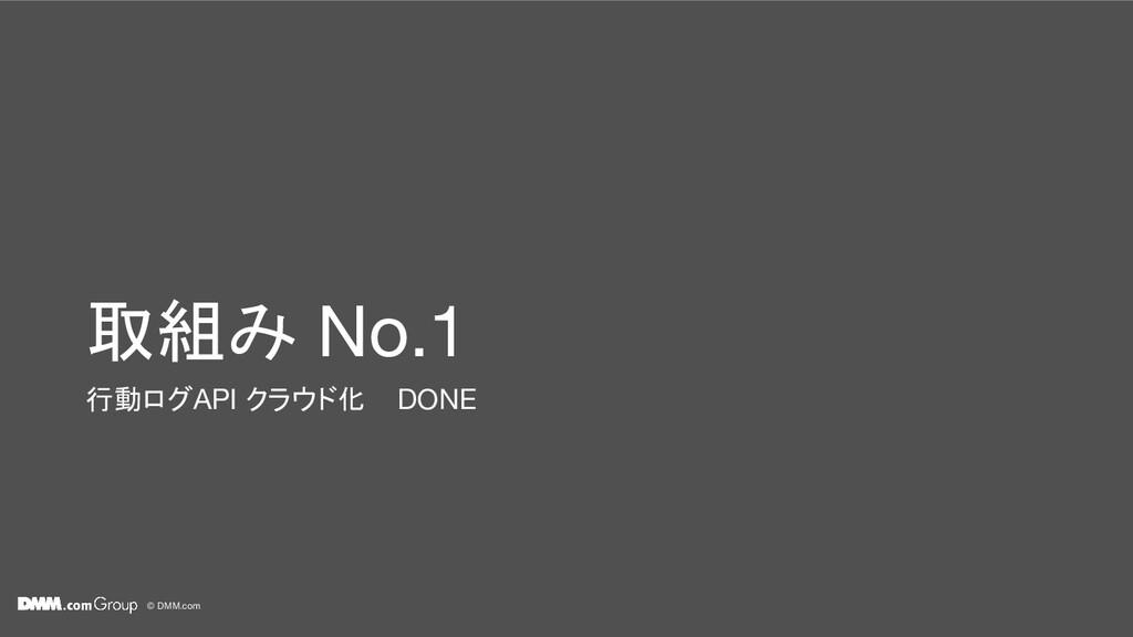 © DMM.com 取組み No.1 行動ログAPI クラウド化 DONE