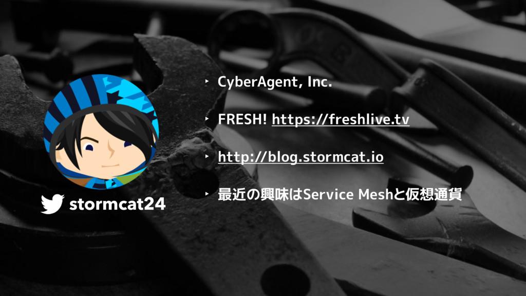 stormcat24 ‣ CyberAgent, Inc. ‣ FRESH! https://...