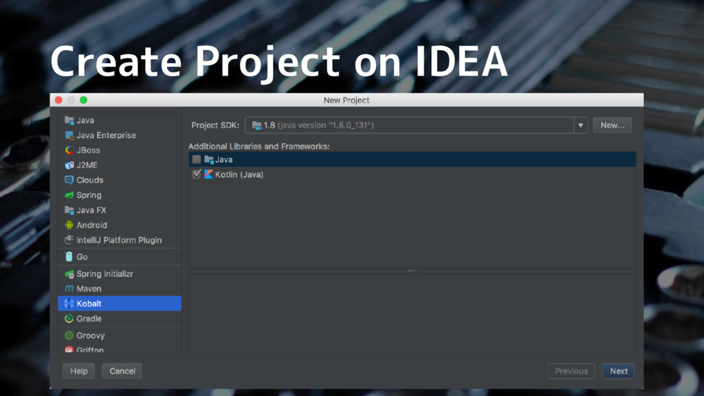 Create Project on IDEA