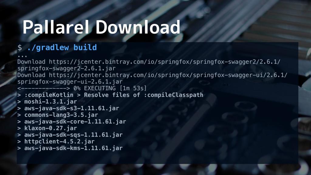 Pallarel Download $ ./gradlew build ... Downloa...