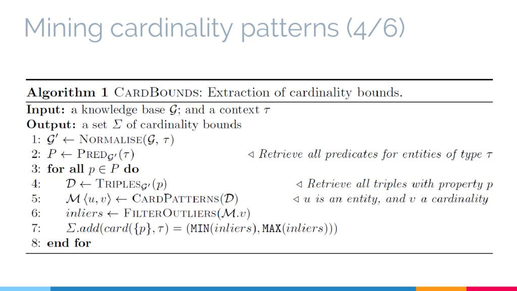 Mining cardinality patterns (4/6)
