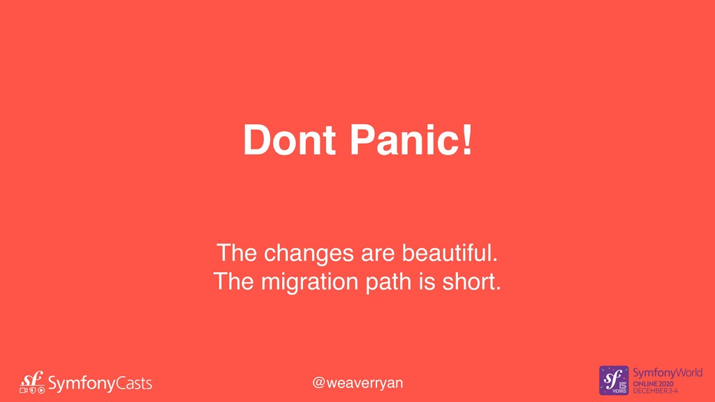 Dont Panic! The changes are beautiful. The migr...