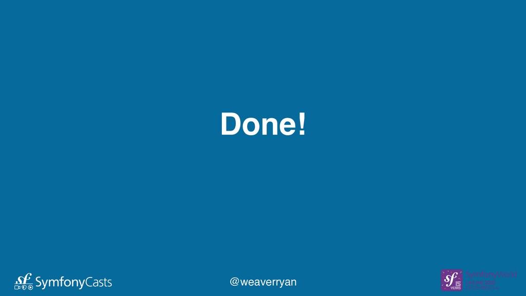 Done! @weaverryan