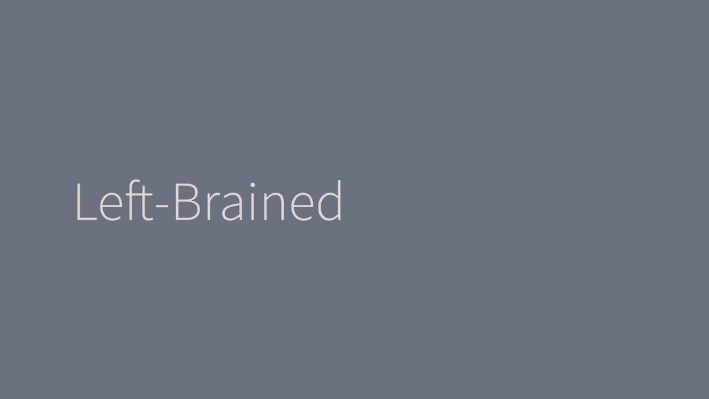 Le!-Brained