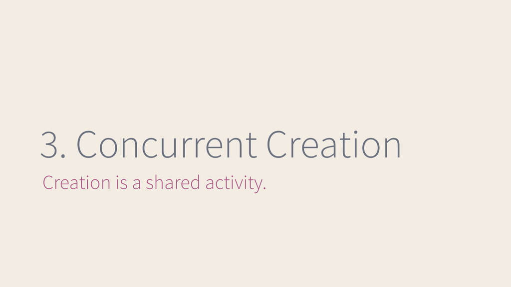 3. Concurrent Creation Creation is a shared act...