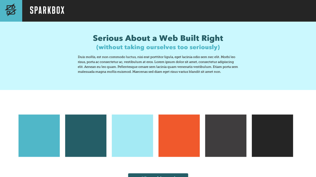 Serious About a Web Built Right Serious About a...