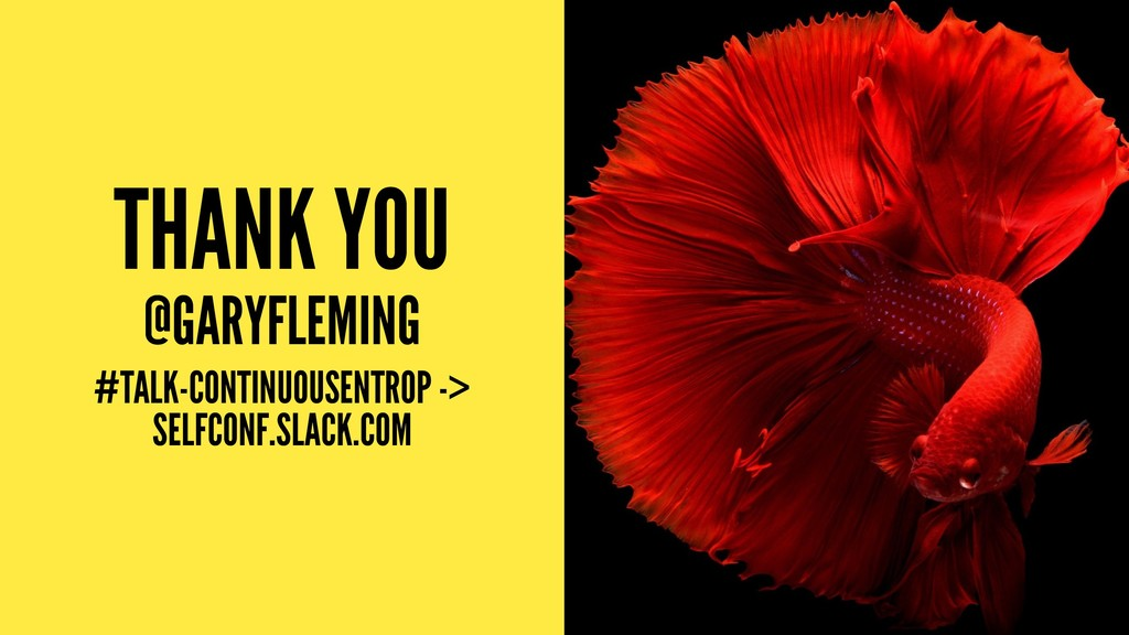 THANK YOU @GARYFLEMING #TALK-CONTINUOUSENTROP -...