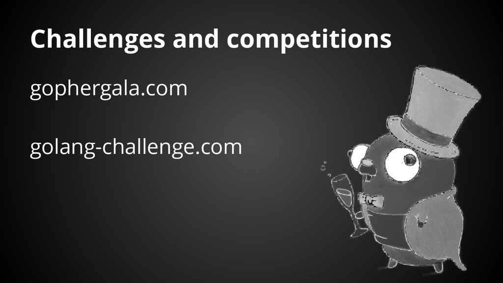 Challenges and competitions gophergala.com gola...