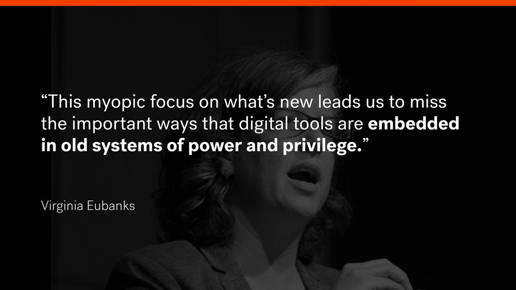 """""""This myopic focus on what's new leads us to mi..."""