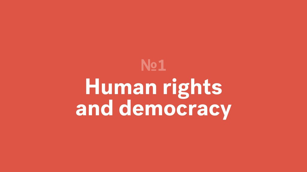 Human rights and democracy №1