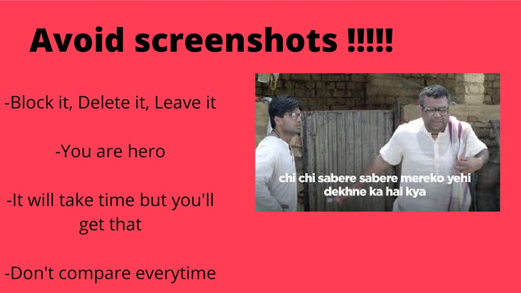 Avoid screenshots !!!!! -Block it, Delete it, L...