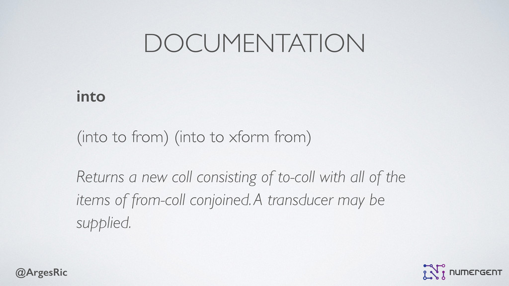 @ArgesRic DOCUMENTATION into (into to from) (in...