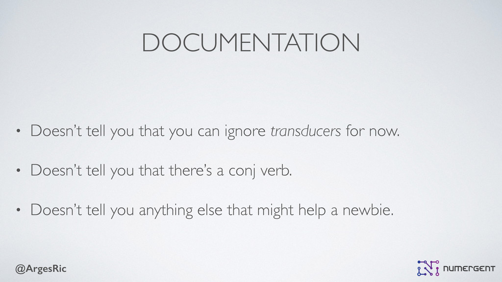 @ArgesRic DOCUMENTATION • Doesn't tell you that...