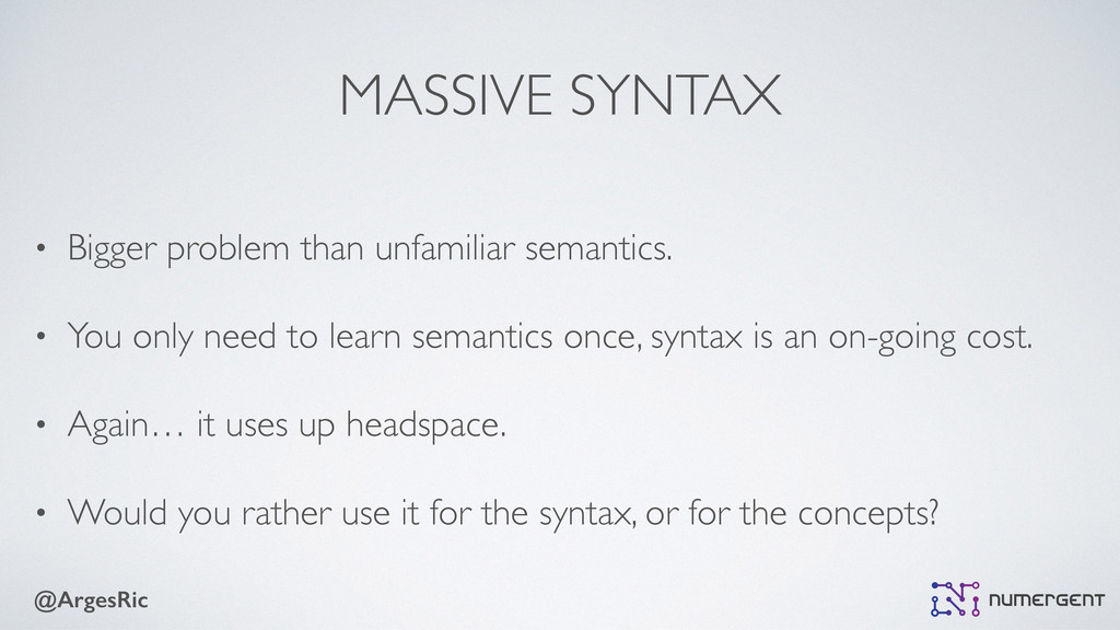 @ArgesRic MASSIVE SYNTAX • Bigger problem than ...