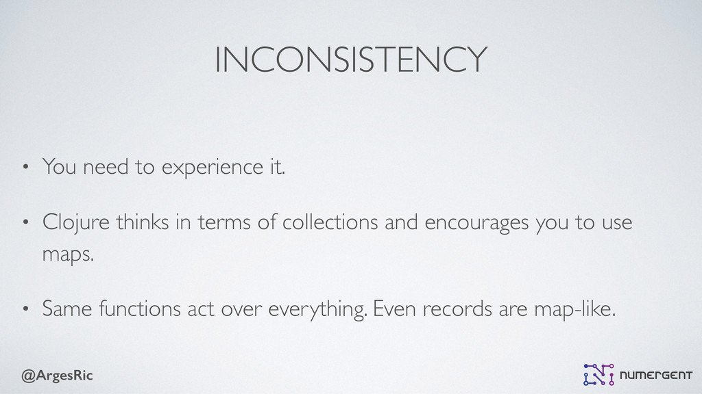 @ArgesRic INCONSISTENCY • You need to experienc...