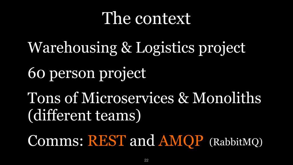 The context Warehousing & Logistics project 60 ...