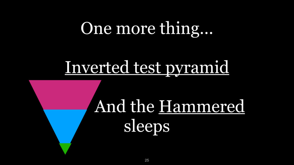 One more thing… Inverted test pyramid And the H...