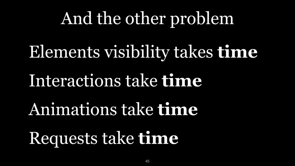 And the other problem Elements visibility takes...
