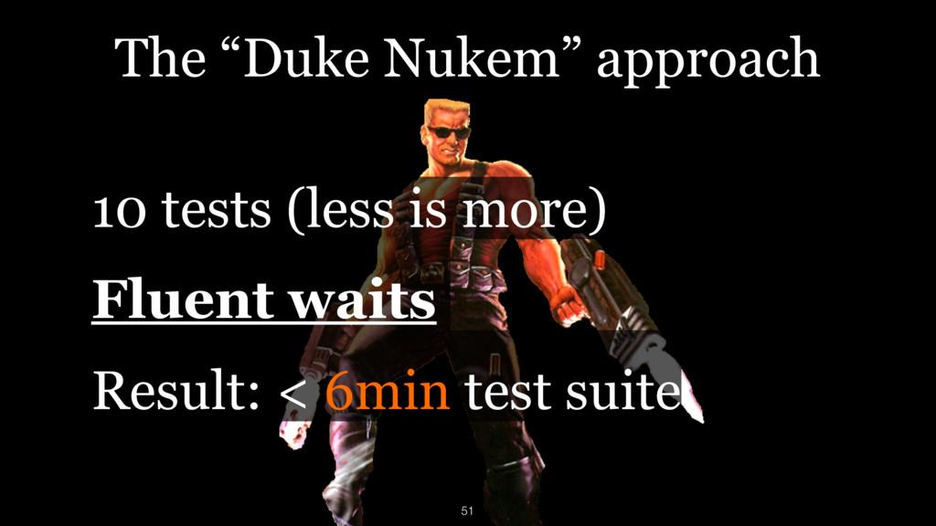 """The """"Duke Nukem"""" approach 10 tests (less is mor..."""