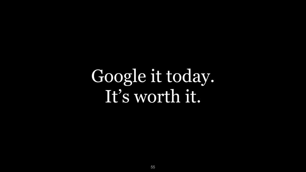 Google it today. It's worth it. 55