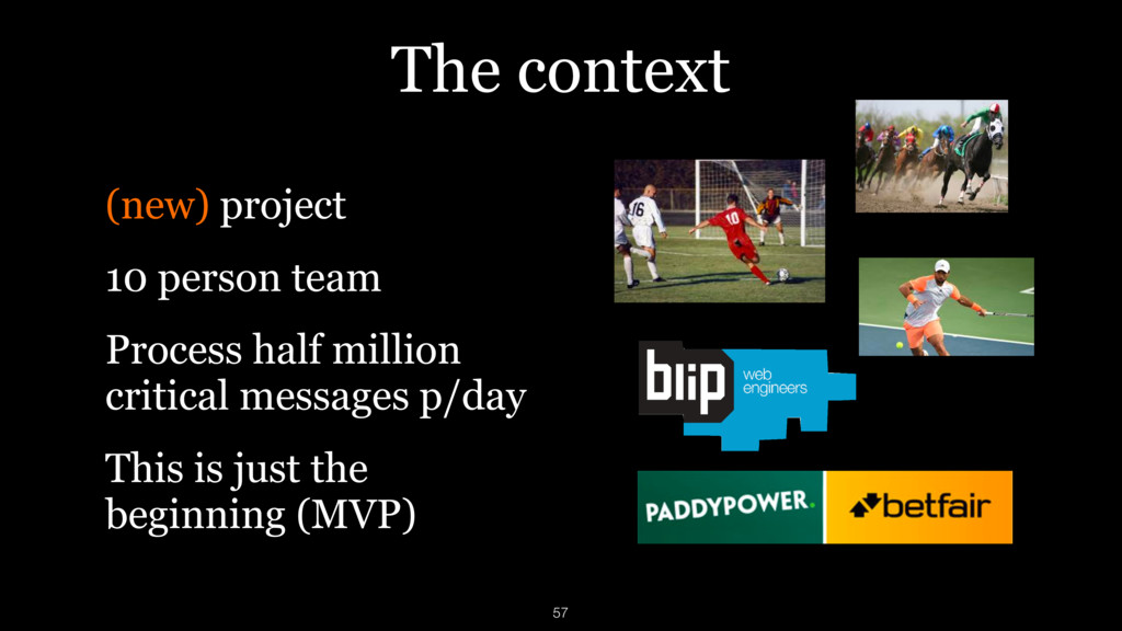 The context (new) project 10 person team Proces...