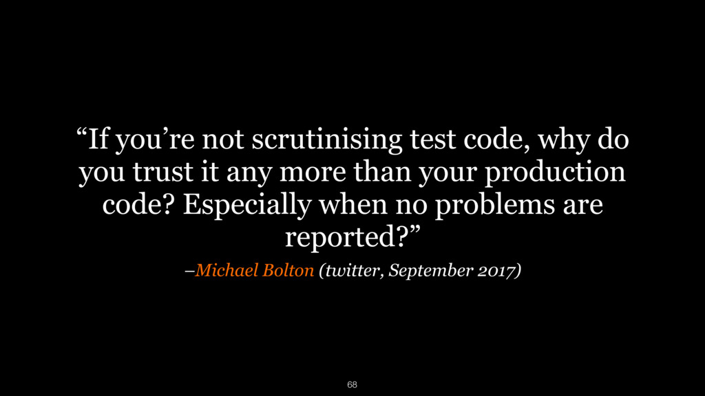 "–Michael Bolton (twitter, September 2017) ""If y..."