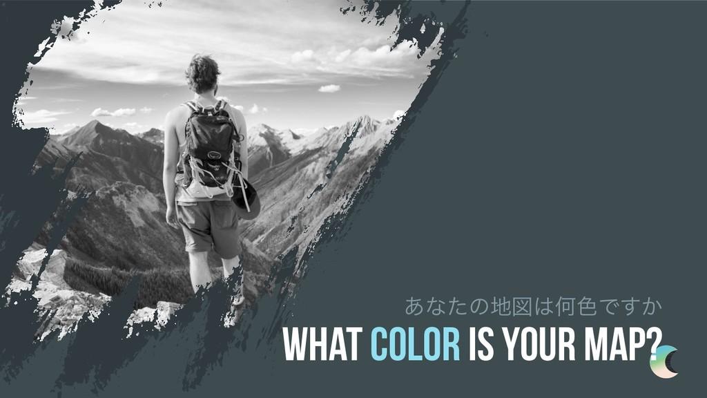 ͋ͳͨͷਤԿ৭Ͱ͔͢ What color is your map?