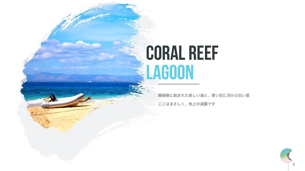 8 Coral reef lagoon ޞʹғ·Εͨඒ͍͠ւͱɺ੨͍ۭʹු͔Ϳന͍Ӣ ͜...