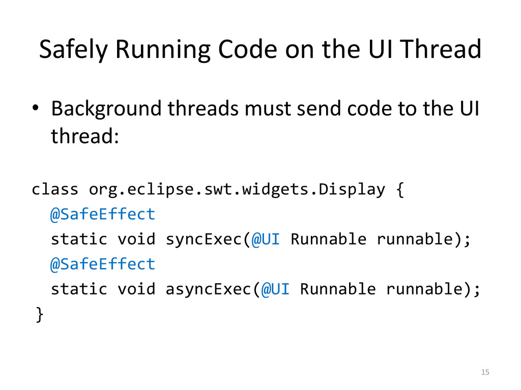 Safely Running Code on the UI Thread • Backgrou...
