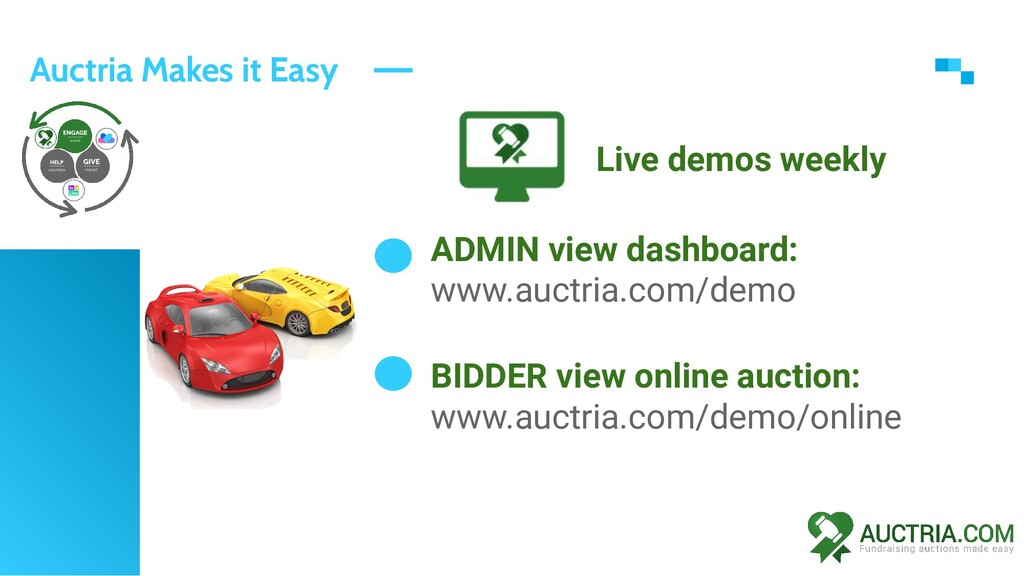 Auctria Makes it Easy ADMIN view dashboard: www...