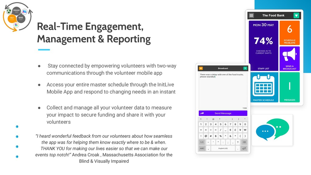 Real-Time Engagement, Management & Reporting ● ...