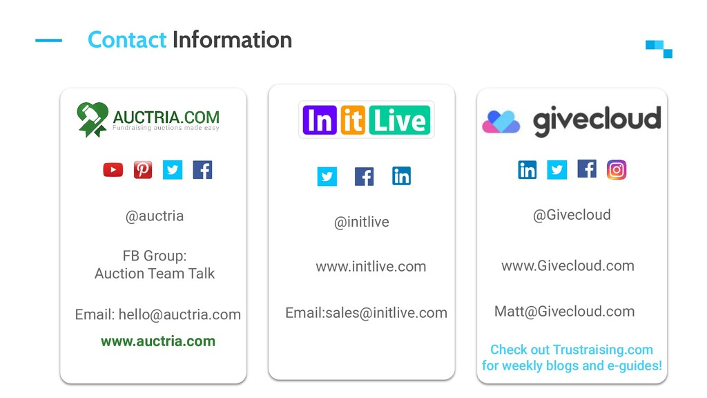 Contact Information @auctria FB Group: Auction ...