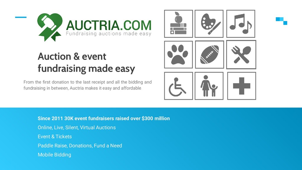 Auction & event fundraising made easy From the ...