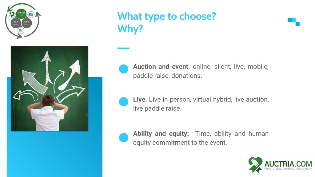 Auction and event. online, silent, live, mobile...