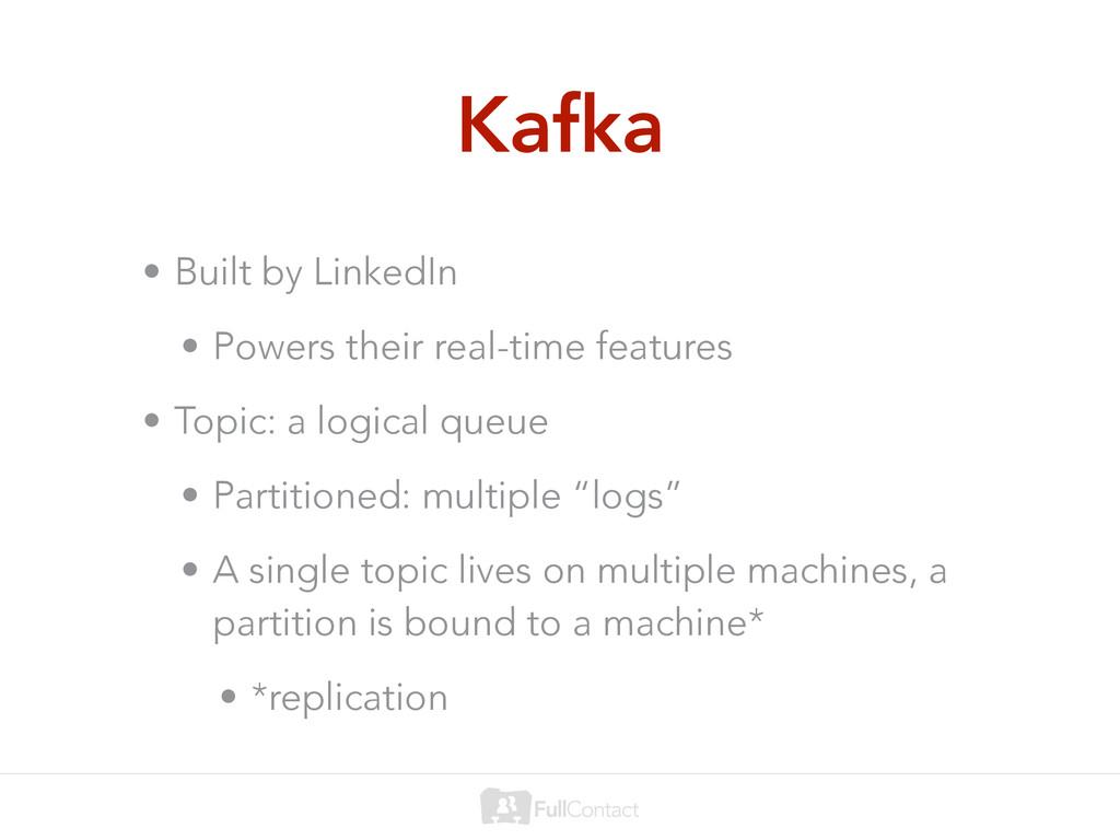 Kafka • Built by LinkedIn • Powers their real-t...