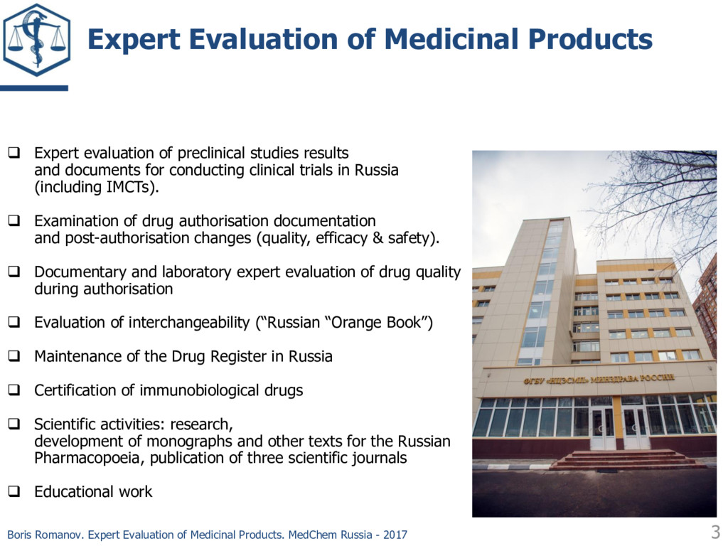 3 Expert Evaluation of Medicinal Products  Exp...