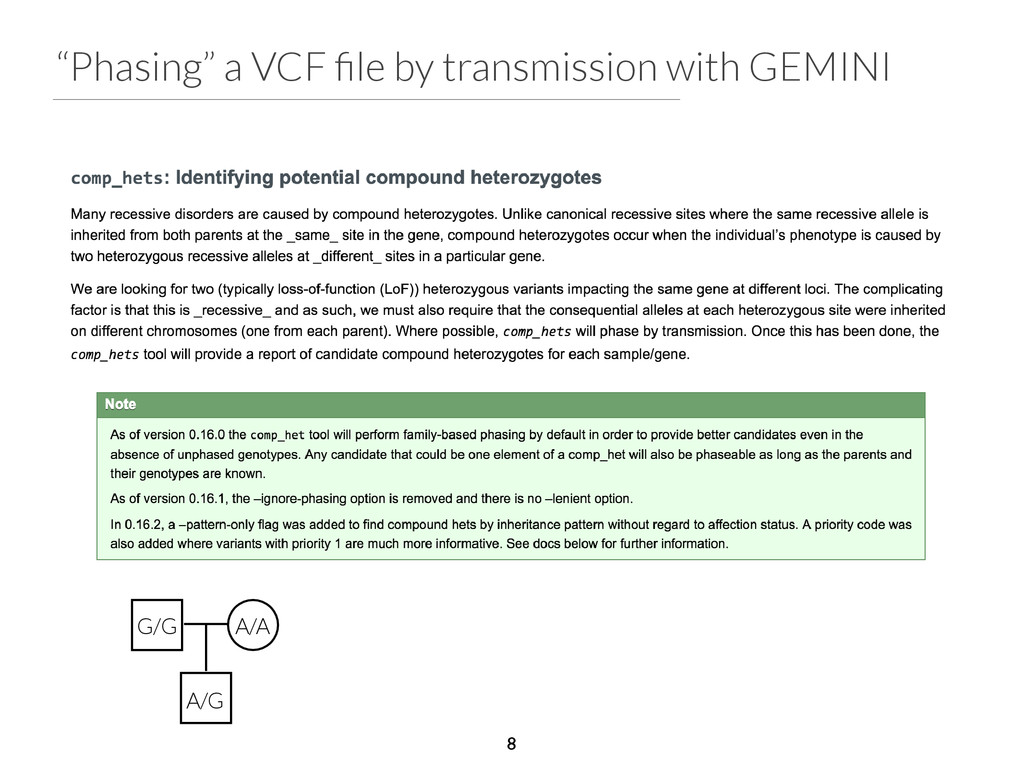 """Phasing"" a VCF file by transmission with GEMINI..."